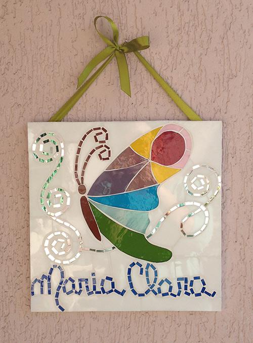 Quadro de mosaico da Maria Clara