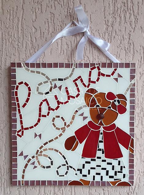 Quadro de mosaico para porta de maternidade