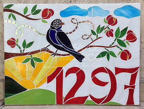 Número de mosaico para casa