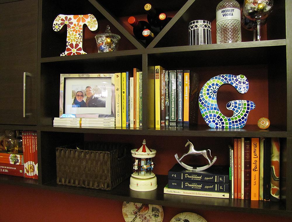 Letra em mosaico para decoração