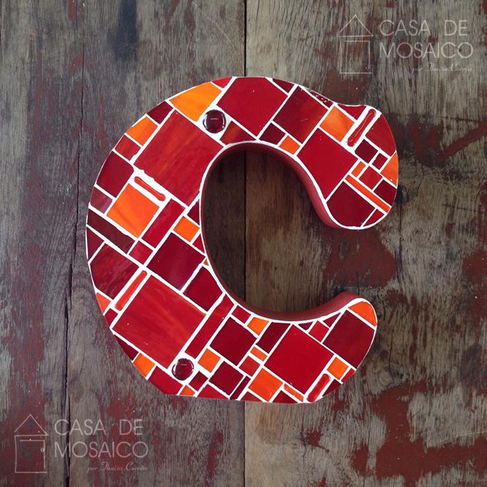 Letra C de Mosaico