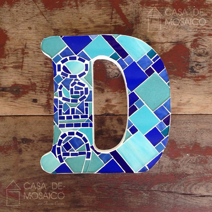 Letra D de mosaico