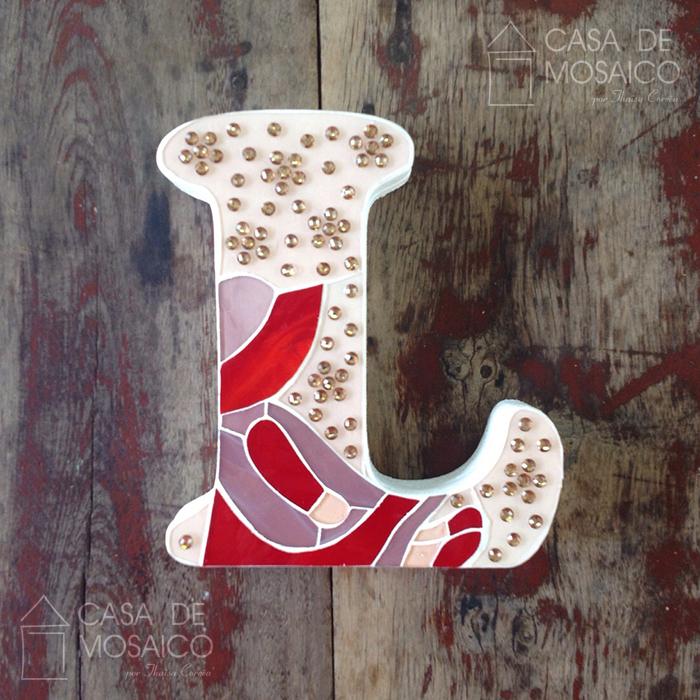 Letra L de mosaico