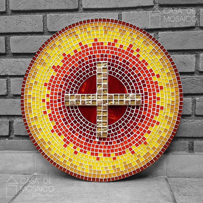 Porta de sacrário em mosaico de vidro