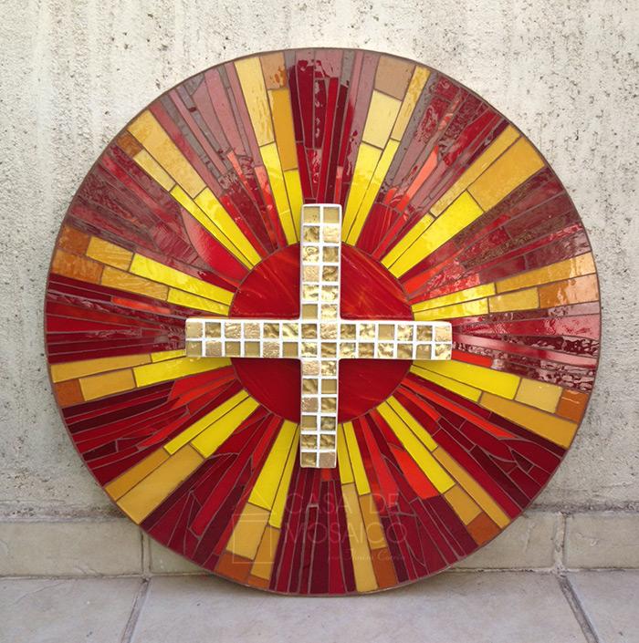 Porta de sacrário em mosaico