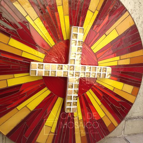 Porta de sacrário de mosaico