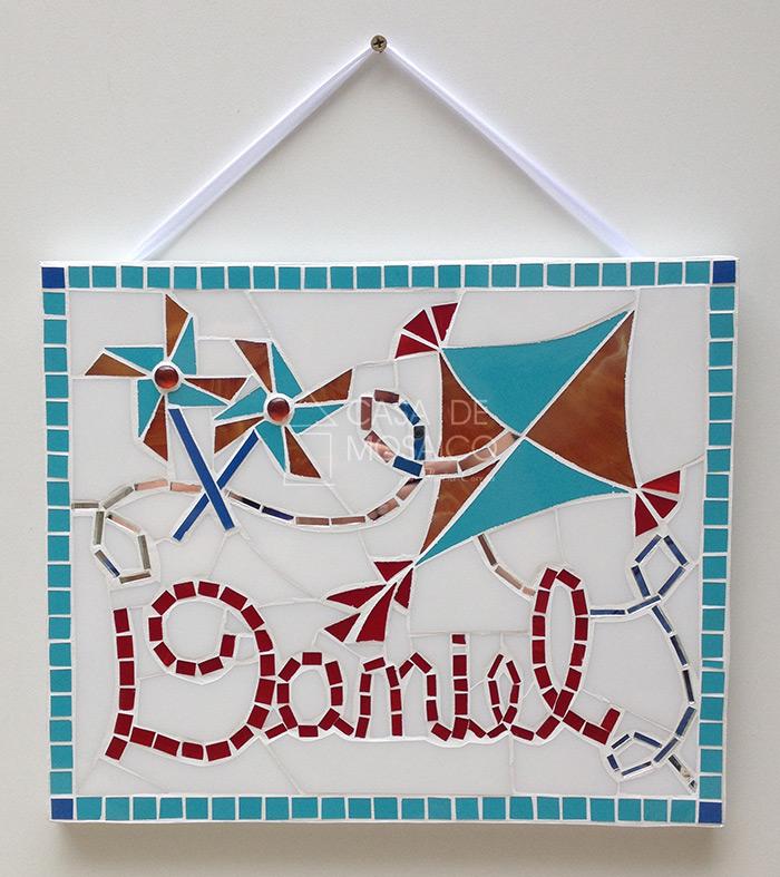 Quadro de mosaico enfeite para porta de maternidade