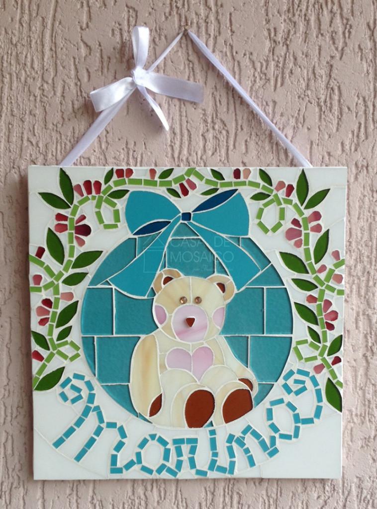 Quadro de mosaico - Enfeite de porta de maternidade