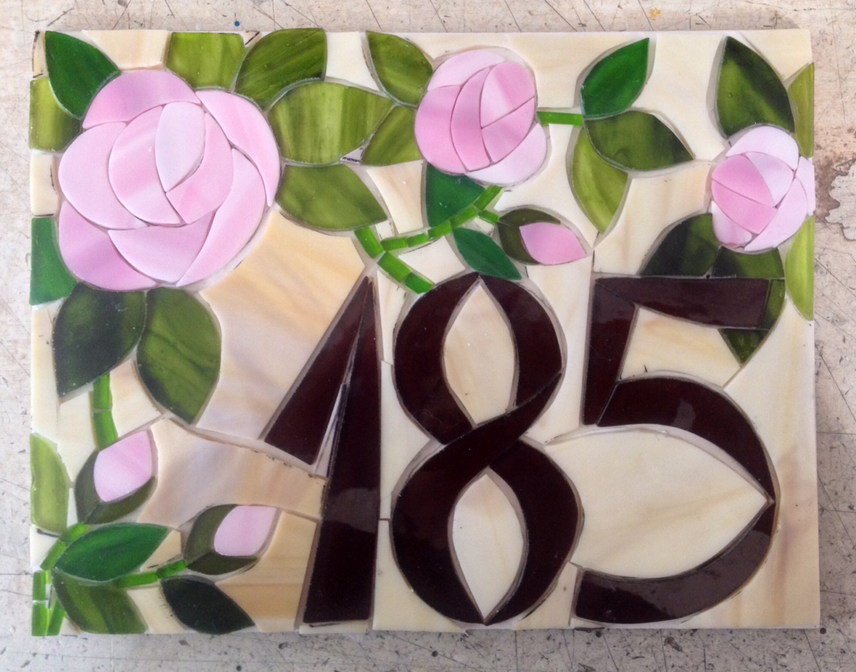 Número de rosas em mosaico