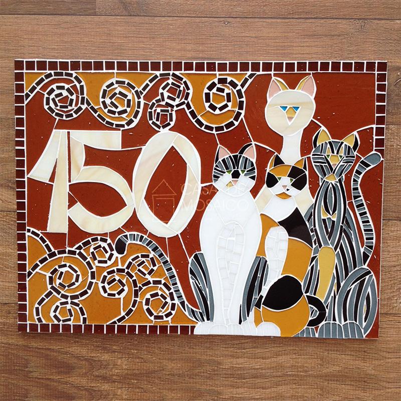 Número de gatos em mosaico