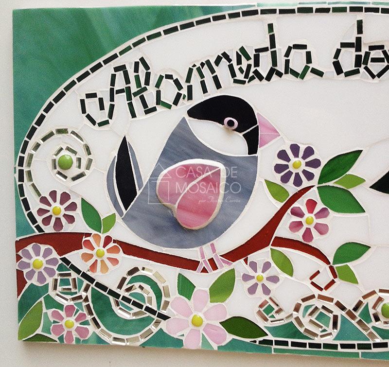 Número em mosaico para residência (45×25 cm) – Calafates