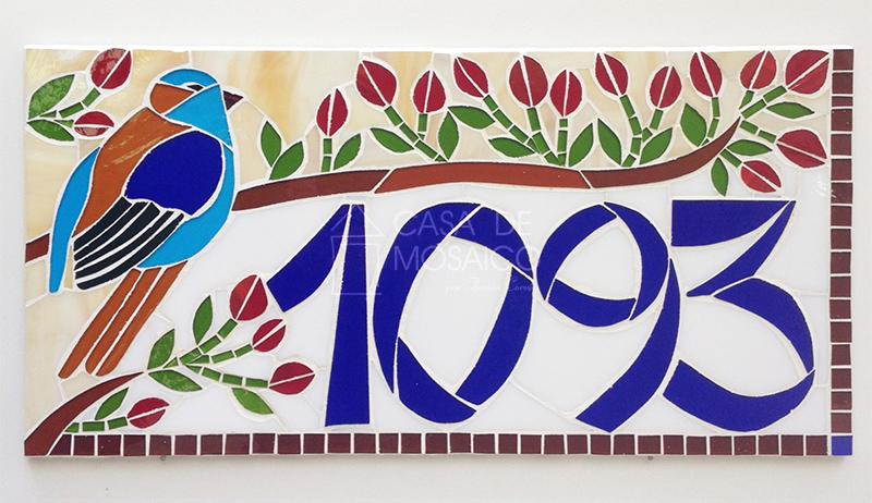 Número de pássaro em mosaico