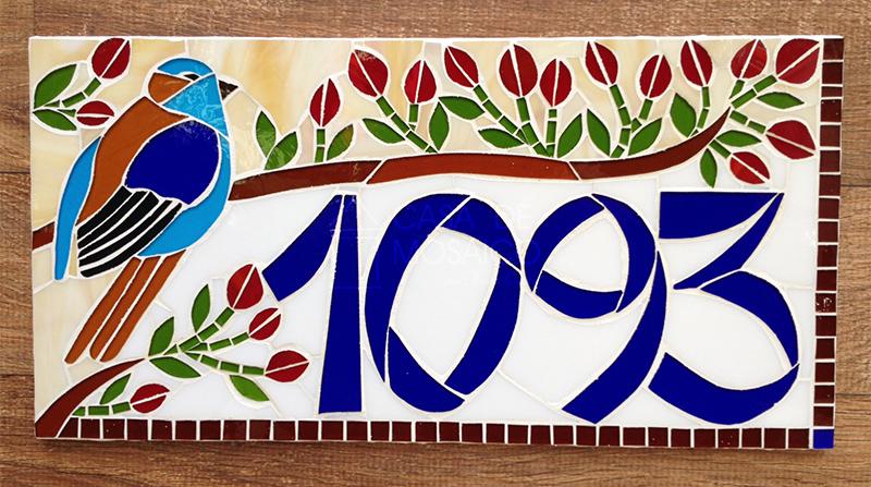 Número de passarinho em mosaico