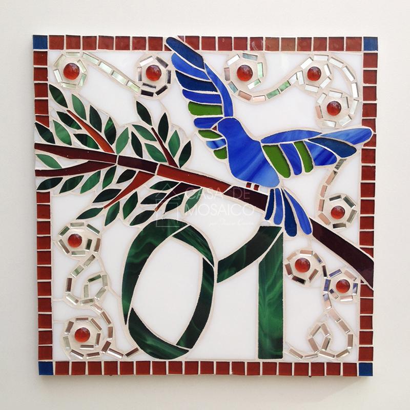 Número de mosaico 30x30cm