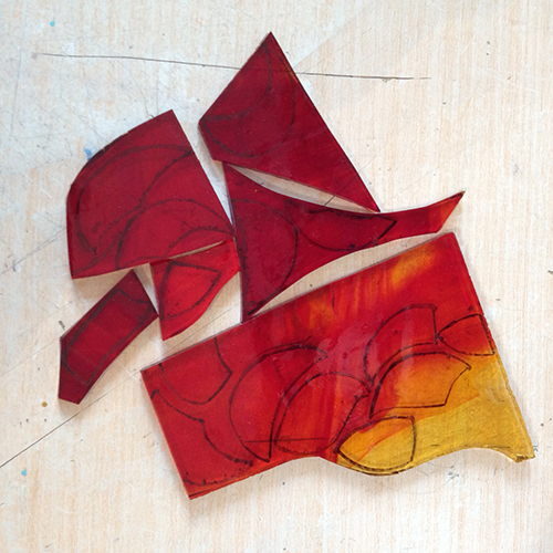 vidro para mosaico
