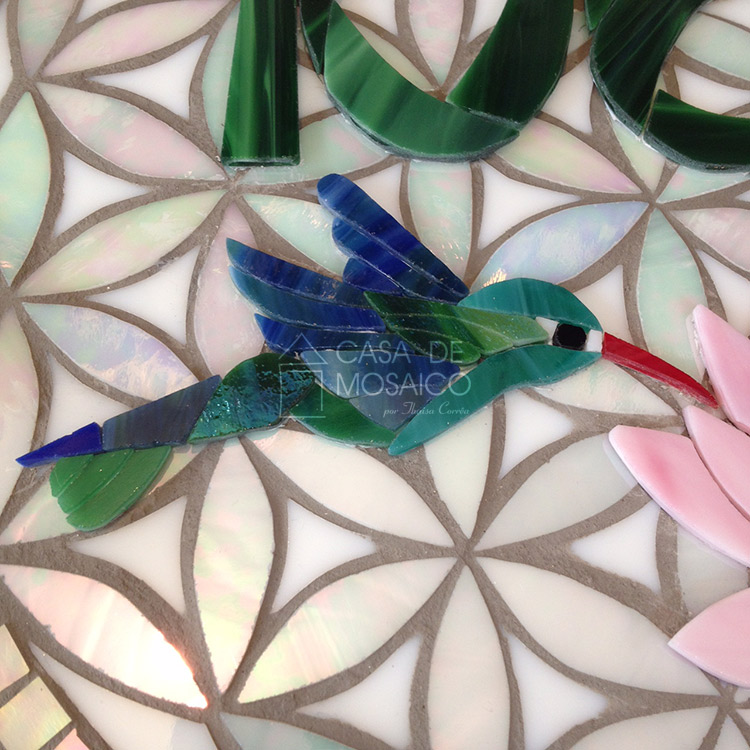 Beija-flor de mosaico